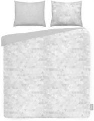 Grijze ISeng Triangles - Dekbedovertrek - Eenpersoons - 140x200/220 cm + 1 kussensloop 60x70 cm - Grey
