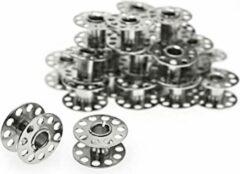 Elga Bobm0007 naaimachinespoeltjes metaal - naaimachine spoel - platte spoeltjes universeel - spoelen