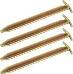 Amanka Extra Stabil 4 Stahl Erdnägel T-Profil 300x25mm Heringe Harte Böden Zeltnägel