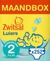 Zwitsal Luiers Mini - Maat 2 - 252 stuks Volumepak - Voordeelverpakking