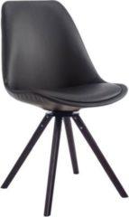 CLP Besucherstuhl CALAIS mit Kunstlederbezug und Buchenholzgestell Drehbarer Lehnstuhl mit runden Holzbeinen In verschiedenen Farben erhältlich