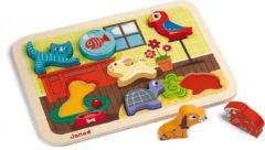 Janod Speelgoed Chunky puzzel huisdieren