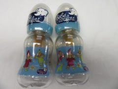 Blauwe Bebe confort , duo set van 2 papfles , zuigfles lutin