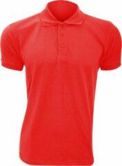 SOLS Heren Prime Pique Poloshirt met korte mouwen (Rood)