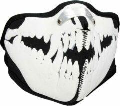 Facemasks Mondkap Skimasker Dracula Dieren Skelet Print Zwart / Wit, Maat: One size