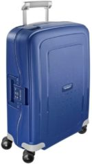 Blauwe Samsonite S'Cure Spinner 55 dark blue Harde Koffer