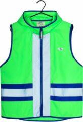 Gofluo. Joy Veiligheidshesje - Reflecterend hesje - Fluoriserend - Veiligheidsvest - Hardloophesje - Reflectie jas - Lichtgewicht - Veilig de weg op - Groen - S