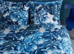Blauwe Beddinghouse Hawaii Dekbedovertrek - Lits-jumeaux (260x200/220 Cm + 2 Slopen) - Katoen Satijn - Blue