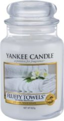 Witte Yankee Candle Fluffy Towels Geurkaars Large Jar