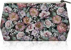 Ambiente - Cosmetic Bag Vintage Flowers Black - Toilettas - Make-up tas