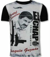 Zwarte T-shirt Korte Mouw Local Fanatic El Chapo - Digital Rhinestone T-shirt