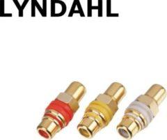 Lyndahl LKPA015 RCA Cinch Durchgangsdose für Frontplattenmontage, hartvergoldet Farbe: Schwarz