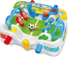 Rode Clementoni 2 in 1 Interactief Voetbalspel en Activiteitencentrum | Tafel Voetbal Spel | Afm 56 x 44 x 20 Cm. | Geschikt voor kinderen vanaf: 18 Maanden