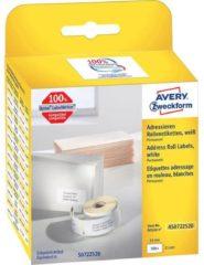 Avery-Zweckform Rol met etiketten Compatibel vervangt DYMO 11352, S0722520 54 x 25 mm Papier Wit 500 stuk(s) Permanent Adresetiketten AS0722520