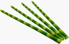 Hima Bioproducts Papieren rietjes 6x200mm bamboe groen, verpakt per 500 stuks in OPP zak