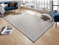Zilveren Zala Living Modern vloerkleed Alley - grijs 130x190 cm