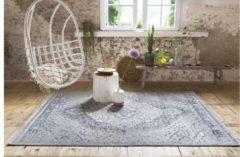 Witte Lifa-Living Lifa Living Vloerkleed - Aqua - Grijs - Maat: 133 x 200 cm