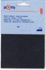 Blauwe PRONTY REPARATIEDOEK JEANS OPSTRIJKBAAR 071 DONKER 10 X 40cm. - 3STUKS