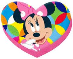 Disney hart kussen Minnie Mouse meisjes 75 cm polyester roze