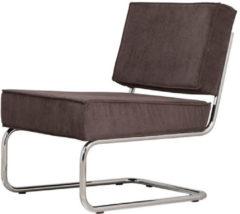 Grijze Zuiver Stoel Lounge Chair Ridge Rib grijs