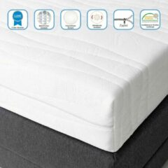 Witte Drôme Matras Martinez - Pocketvering - 7 Luxe comfortzones - Anti-allergisch - Matras 90x210 cm