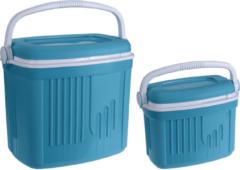 2x Koelboxen Kunststof Blauw 8/32 Liter - Koelboxen Set 2 Stuks