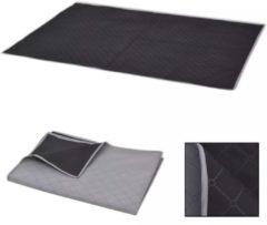 VidaXL Picknickkleed 100x150 cm grijs en zwart
