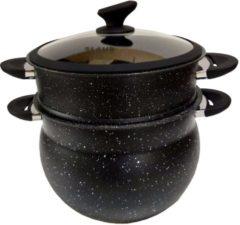 Zwarte Klaus keramiek couscouspan - Ø 24 cm - 9 Liter