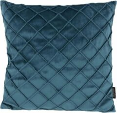 Gek op Kussens! Velvet Cross Blauwgroen Kussenhoes | Fluweel - Polyester | 45 x 45 cm