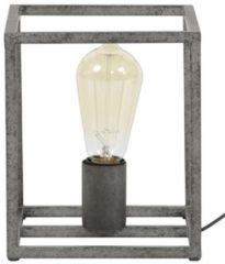 Zaloni Tafellamp Cubic 21 cm hoog - Oud zilver
