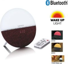 Lenco CRW-4 - Wekkerradio met wake up light, bluetooth en aux aansluiting - Rood