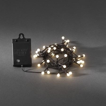 Afbeelding van Konstsmide LED kerstverlichting cherry met lichtsensor en timer - 7,9 meter
