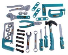 Turquoise Toi-Toys Toi Toys gereedschapsset Power Tools 30 delig grijs