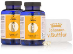 Johannes von Buttlar - gesund und aktiv Omega 3-6-9 Premium, 2x 180 Kps. & Dose