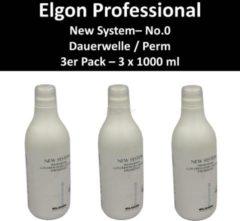 Elgon - New System - no. 0 Perm voor sterk haar - Multipack 3x1000ml