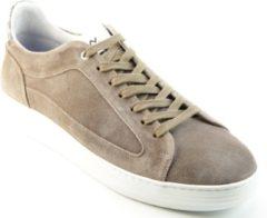 Beige Floris van Bommel 13265 05 Taupe G+ Wijdte Sneakers lage-sneakers