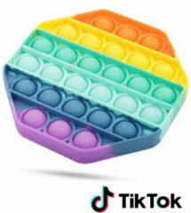 Merkloos / Sans marque Pop it Fidget Toy Regenboog - Bekend van TikTok - Hexagon - Rainbow