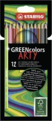 Groene Kleurpotloden STABILO Greencolors 6019/12-1-20 etui à 12 stuks