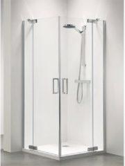 Zilveren Sealskin Get Wet Custom douchedeur hoekinstap 100x195cm zilverhoogglans helder glas CP50100D260100