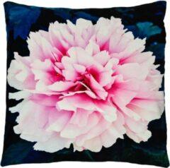 Decolenti   Paeonia Pioenroos Sierkussenhoes   Roze   Blauw   Groen   Wasbaar   Decoratie   45cm x 45cm