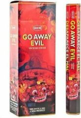 Grijze HEM Wierook Go Away Evil (6 pakjes)