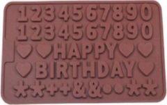 Akyol Chocoladevorm Happy Birthday verjaardag siliconen vorm voor ijsblokjes of voor chocola - Bakken - Keukenaccessoires - Koken - Chef - Taarten - Cadeau