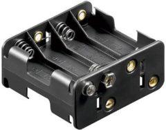 Goobay 12470 Batterijhouder 8x AA (penlite) Drukknopaansluiting (l x b x h) 63 x 58 x 29.5 mm