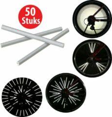 Grijze CM Lifestyle Spaakreflectoren 50 stuks - Fietsreflectoren - Fiets - Reflectoren - Rolstoelreflectoren - Racefietsreflectoren - Verkeer - Fietswiel reflectoren - Veiligheid - Zichtbaarheid - Fietsverlichting - 3M reflectoren - Veilig - Fiets - Wiel