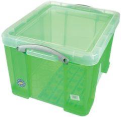 Really Useful Boxes RUB gekleurde transparante opbergdoos 35 l groen