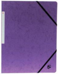 Paarse 4 Star 5 Star elastomap formaat A4 (24x32 cm) met elastieken zonder kleppen paars pak van 10 stuks
