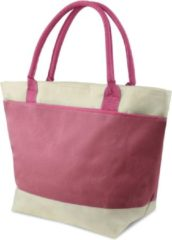Merkloos / Sans marque Koeltas / strandtas / picknicktas / lunch tas 2 vakken - 16L - roze