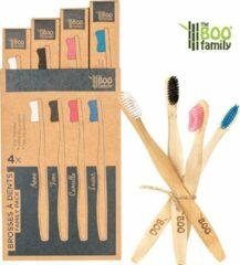 Blauwe TBF - THE Boo Family The BOO family - Tandenborstel family pack - bamboe - 4 kleuren