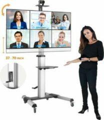 Zilveren STRALEX TV VLOERSTANDAARD PROFESSIONEEL TW46V MET DRAAIHENDEL