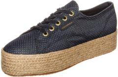 2790 Fabricshirtropew Sneaker Damen Superga blue indigo dots